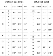 Size Chart Pineapple Clothing