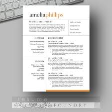 Eye Catching Resume Templates 122 Best Resume Template For Instant Download  Images On Pinterest Free