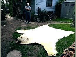 faux bear skin rug stylish real inspiration home design ideas rugs fake white black fur plush