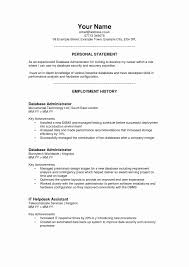 Personal Statement For Resume Good Personal Statement Cv Examples Best Of Resume Personal