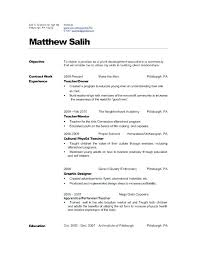 Preschool Teacher Resume Objective Kadil Carpentersdaughter Co