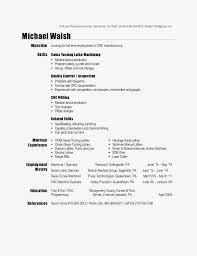 Cnc Machine Operator Resume Sample Photo Cnc Machinist Resume