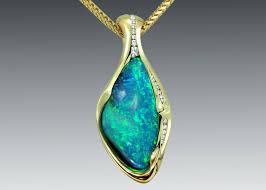 view larger image boulder opal diamond necklace