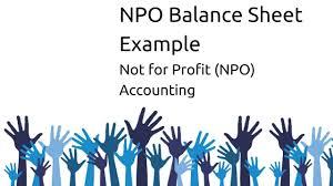 sample balance sheet for non profit example balance sheet of npo non profit organsiation ca cpt cs