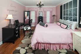 awesome pink bedding with paris nuance on great rug matched with pink wall with pink curtain