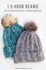 Crochet Hat Patterns Free Adorable One Hour Free Crochet Hat Pattern For Beginners Video Tutorial
