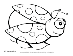 Lady Bug Coloring Sheet Bug Coloring Pages Qoopon Co