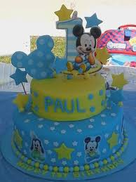 Mickey Mouse 1st Bday Cake Inspiring Baby Mickey Mouse Cakes Stock