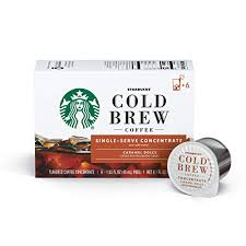 Nutrition information is calculated based on our standard recipes. Starbucks Cold Brew Coffee Caramel Dolce Flavored Single Serve Concentrate Pods 6 Boxes 36 Capsules Total Coffee Concentrate Brickseek