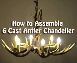 how to assemble 6 cast antler chandelier cascade rustic candle style ceiling lights
