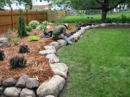 interior Front Yard Great Landscaping Ideas Rocks And Stones Stone
