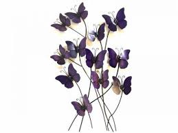 metal wall art purple haze erflies