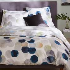 400 thread count organic sateen watercolor dots duvet cover shams west elm