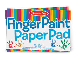 com melissa doug finger paint paper pad 12 x 18 inches 50 sheets 2 pack toys