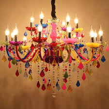 colorful chandelier lighting. Interesting Chandelier Modern Chandeliers LED Crystal Lighting Bohemia Colorful Chandelier Lustres  De Cristal Decorative Lamps Pendant Lampin From Lights U0026  With O