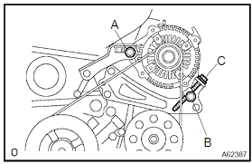 Toyota Camry: Drive belt (1MZ−FE/3MZ−FE) - Engine mechanical