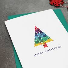 Bright Modern Christmas Tree Cards By Mock Up Designs