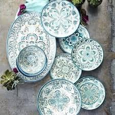 outdoor plate set uk fresco blue melamine dinnerware collection