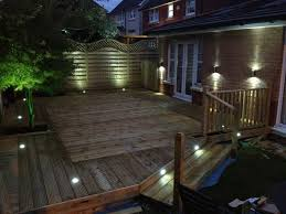 Outdoor Deck Lighting Lowes Lighting Deck Outdoor Patio Recessed Dot Led Light Kit Dekor