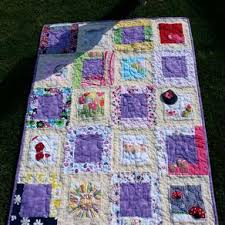 Custom Quilts | Personalized Quilts | CustomMade.com & Double-Sided Baby Clothes Memory Quilt - Medium Size - 40 Blocks - Approx 40 Adamdwight.com