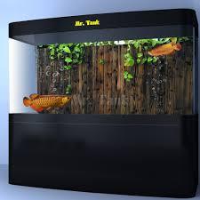 <b>Mr</b>.<b>Tank</b> HD <b>Aquarium Background Poster</b> 3D Effect Wooden Fence ...