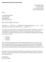 data driven marketing cover letter template