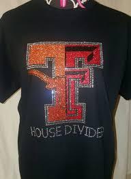 Longhorn T Shirt Designs Longhorn Texas Tech House Divided Shirt Texas Tech Shirts