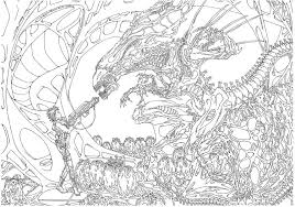 Small Picture Avp Alien Vs Predator 2 Coloring Pages Coloring Pages For All