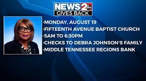 Fundraiser for slain TDOC employee Debra Johnson | WKRN News 2