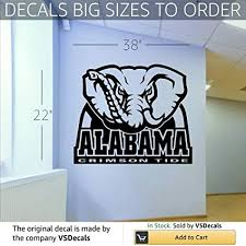 >amazon ncaa alabama crimson tide wall art decal sticker s045  ncaa alabama crimson tide wall art decal sticker s045