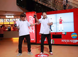 Coca Cola Interactive Vending Machine Awesome Dance Dance Coke's Quirky Korean Consumer Engagement Campaign
