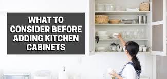 adding kitchen cabinets