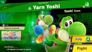 World Of Light Yarn Yoshi 321 Yarn Yoshi Fair Spirit Battle Super Smash Bros Ultimate