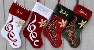Red White Velvet Christmas Stocking