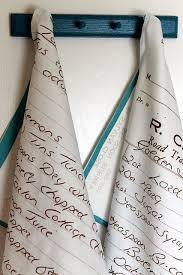 How to turn <b>handwritten</b> recipes into tea towels | Fun crafts, <b>Diy</b> gifts ...