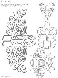 Totem Pole Design Template Totem Pole Collage Pieces Totem Pole Art Totem Pole Craft