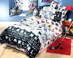 nhl bedding bedding sets hockey bedding for boys and girls hockey montage bed sheets set twin