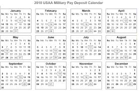 Usaa Military Pay Chart 2017 74 Ageless Usaa Payday Calendar