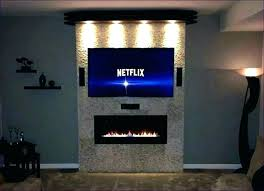 modern electric fireplace tv stand interior small