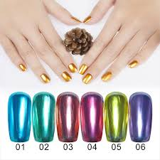 lulaa metallic mirror nail gel polish kit lable base top coat nail polish set lasting diy nail art newchic