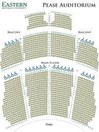 Michigan Theater Seating Chart Emutix Emu Convocation Center And Pease Auditorium Regarding
