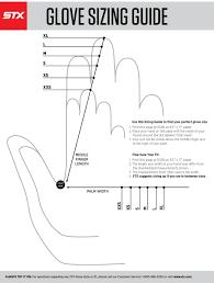 Adidas Field Player Gloves Size Chart Stx Glove Sizing Chart Stx Lacrosse Gloves Lacrosse Gloves