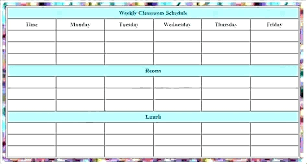 Class Schedule Excel Template Download Weekly Timesheet Template Excel Free Download Schedule To In Color