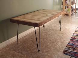 pallet coffee table with metal hairpin