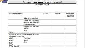 Family Budget Forms Magdalene Project Org