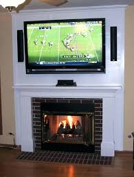 mounting a tv above a gas fireplace how to hang a above fireplace without studs wiring