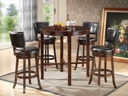captivating dark brown color of high round dining room tables pleted by beverage and cup gl