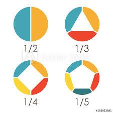 Circular Diagram Set Pie Chart Template Circle