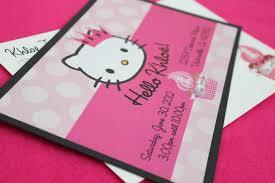hello kitty birthday invitation custom invitations and announcements hello kitty inspired birthday invitation