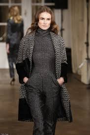 on the runway the coat is part of great greenland s seal fur collection